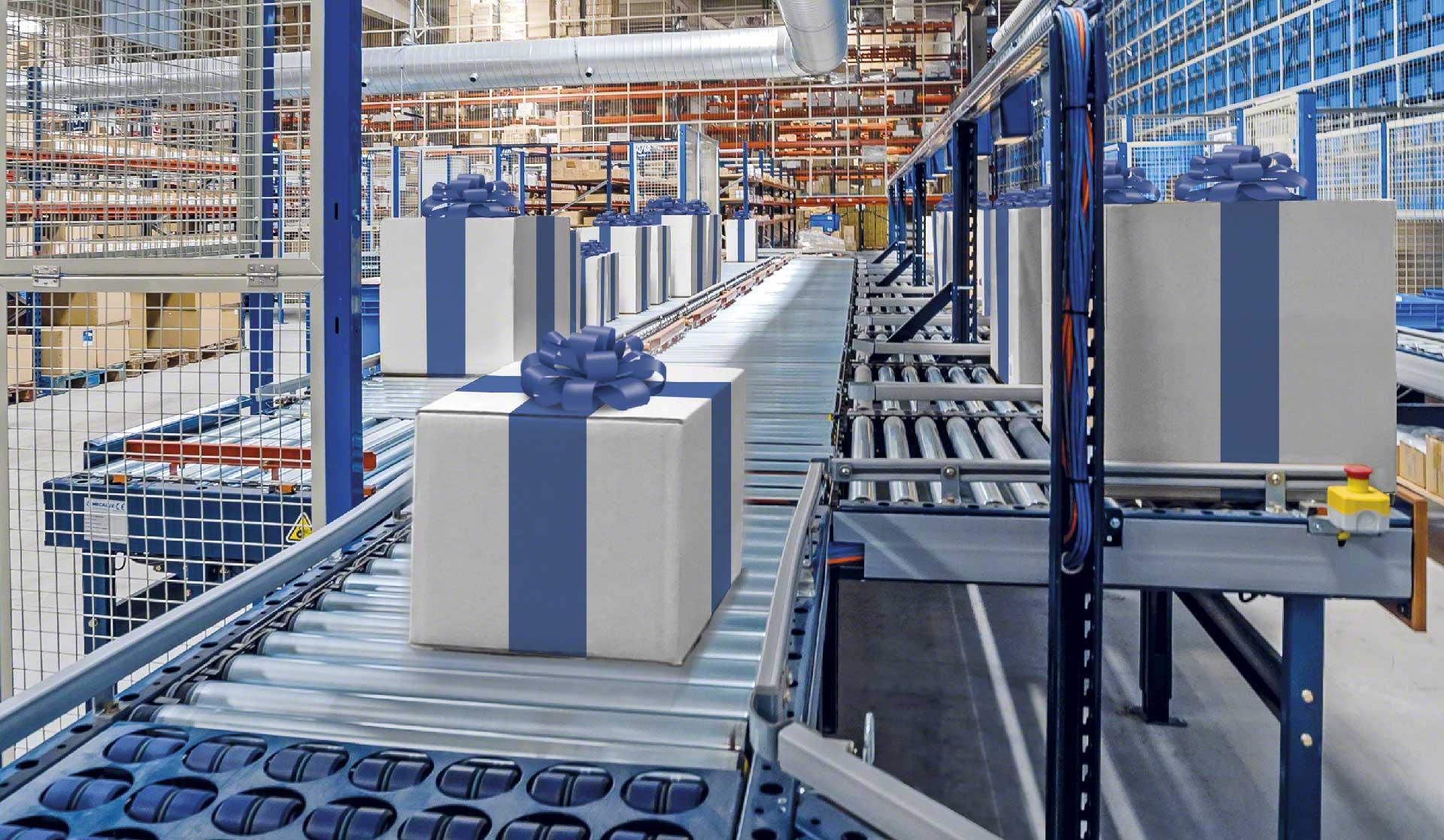 La logística en Navidad se caracteriza por un notable aumento en la preparación de pedidos