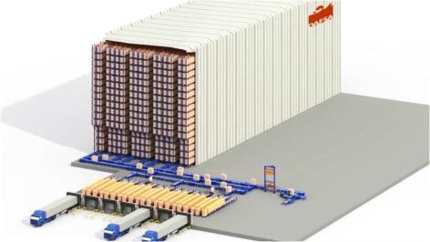 Mecalux construye un depósito autoportante automático preparado para el futuro