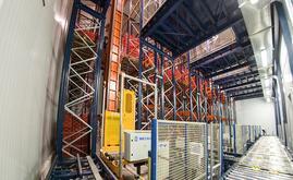 El depósito automático de productos frescos procedentes del campo
