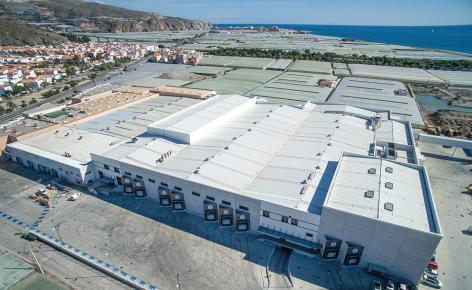 Imagen aérea del centro productivo de Granada La Palma en Carchuna (Granada)