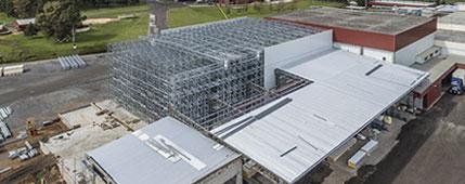 Depósito autoportante de congelación con Pallet Shuttle destinado a potenciar el crecimiento de Granja Tres Arroyos