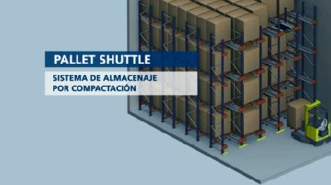 Pallet Shuttle: el almacenamiento compacto semi automático