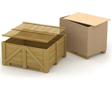 Los patines inferiores de los contenedores de madera pueden ser débiles y poco resistentes ya que suelen emplearse para un solo envío sin retorno.