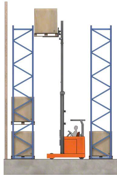 Algunos autoelevadores pueden  levantar  la carga por encima de los 10 metros.