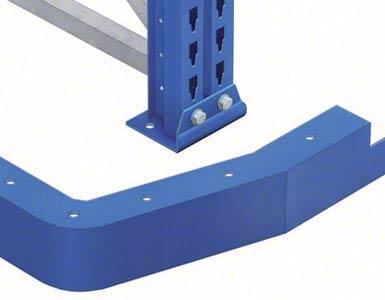 En la entrada de los pasillos con guiado mecánico se han de colocar perfiles de entrada con embocaduras para facilitar el centrado de las máquinas