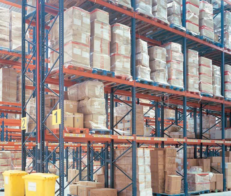 Depósito logístico de distribución de productos alimentarios.
