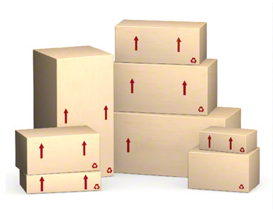 La propia caja de embalaje que envía el proveedor.