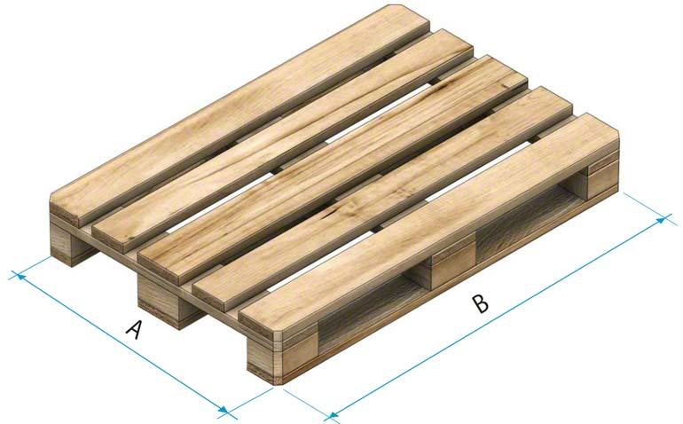 Pallets de madera de tipo 1