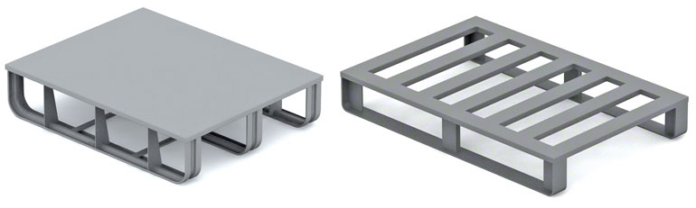 Los pallets metálicos se usan sobre todo en el sector del automóvil y la industria metalúrgica