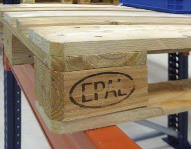 El pallet europeo puede identificarse con las letras EPAL