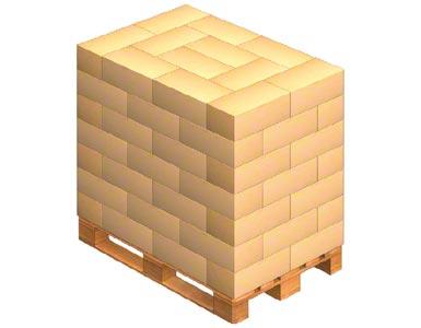 Carga de un palet con cajas entrelazadas