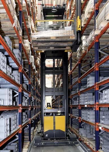 Depósito instalado para un fabricante de componentes electrónicos.