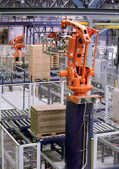 Robot antropomórfico para la manipulación de paletas.
