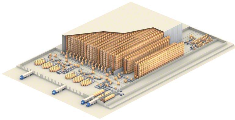 Ejemplo de un depósito central