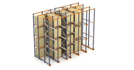 Racks penetrables: el almacenamiento de pallets por acumulación