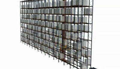 Ciclo simple almacenamiento de transelevador para pallets monocolumna